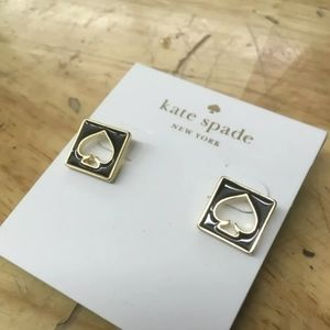 Earrings Kate Spade Black and Gold